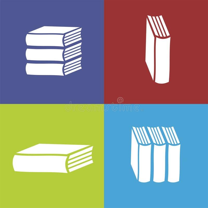 El vector reserva el icono plano en fondo del color stock de ilustración