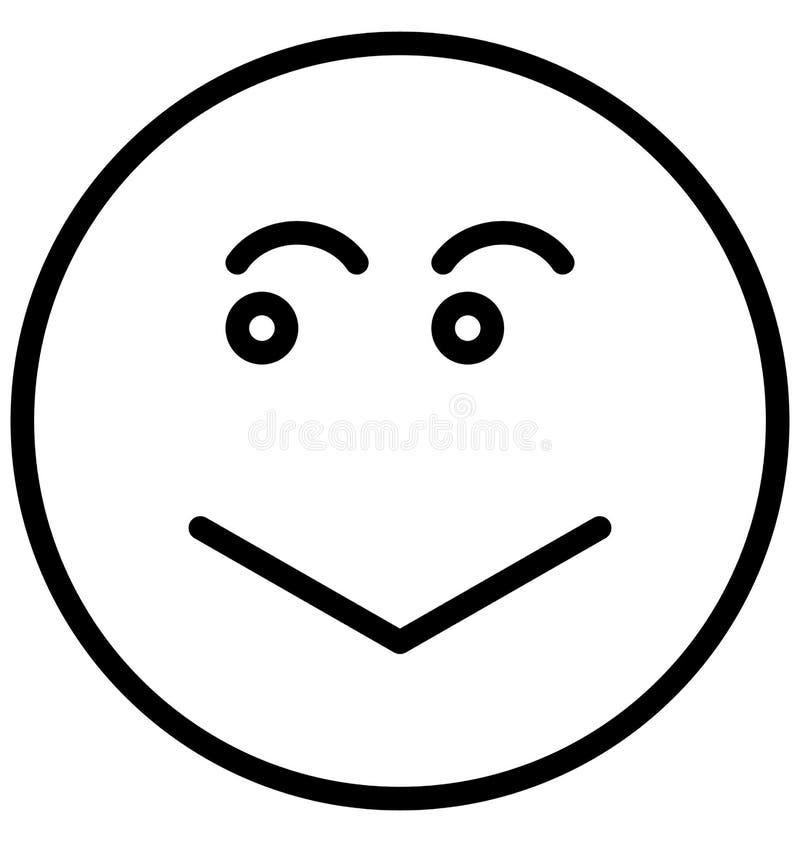 el vector sonriente, triste aisló el icono que puede modificarse o corregir fácilmente ilustración del vector