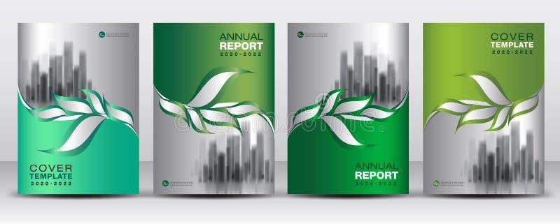 El vector verde de la plantilla del diseño de la cubierta, idea creativa de las hojas orgánicas de la naturaleza, puede ser uso a libre illustration