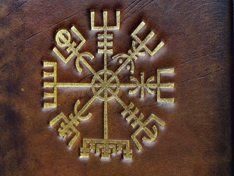 El Vegvisir, símbolo mágico islandés antiguo fotografía de archivo libre de regalías