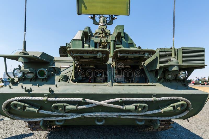 """El vehículo de combate 9A331 del sistema de misiles antiaéreo """"TOR"""" Front View imagen de archivo"""