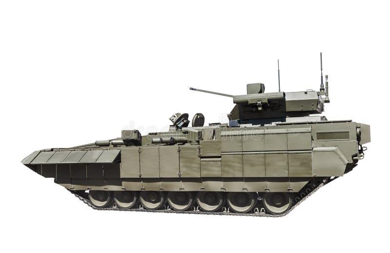 El vehículo de lucha de la última infantería rusa se aísla en un blanco fotografía de archivo