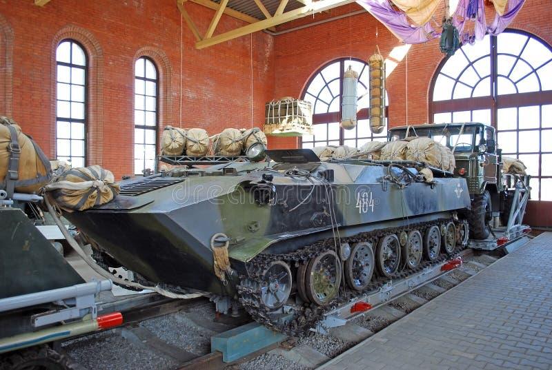 El vehículo soviético que lucha de un aterrizaje en el museo de Sakharov Togliatti Rusia fotografía de archivo