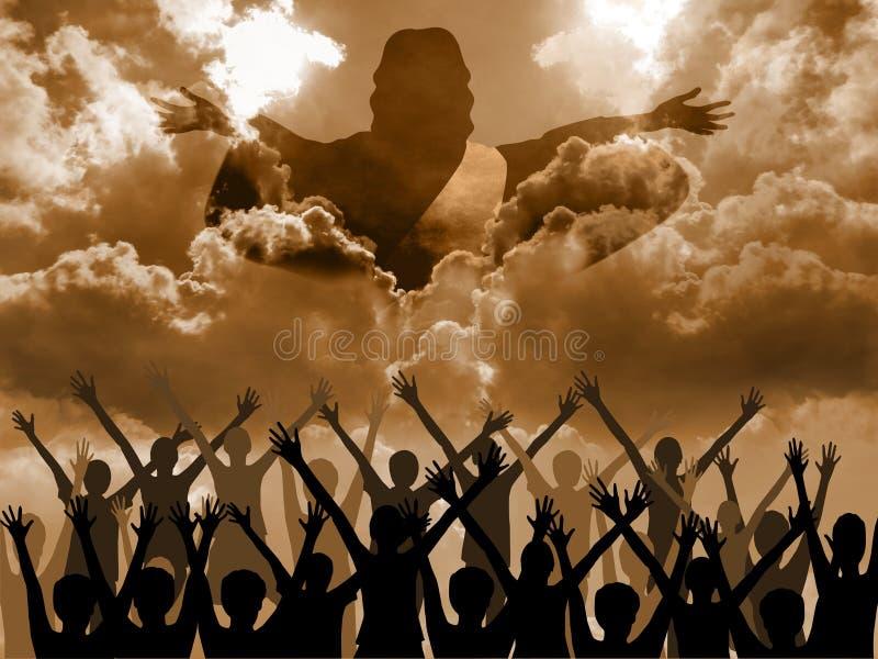 El venir de Jesús ilustración del vector