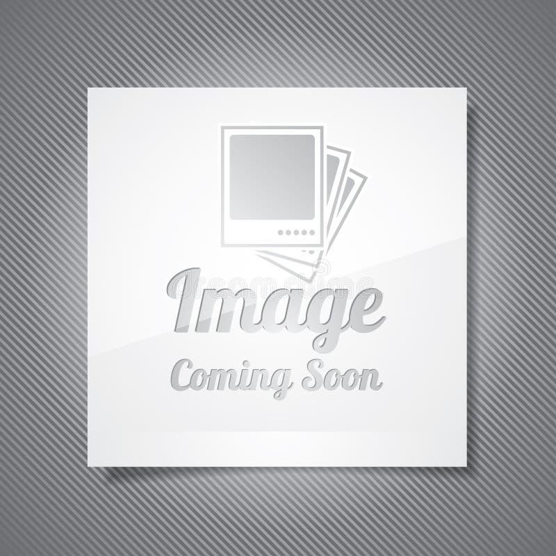 El venir pronto ejemplo con la imagen abstracta stock de ilustración