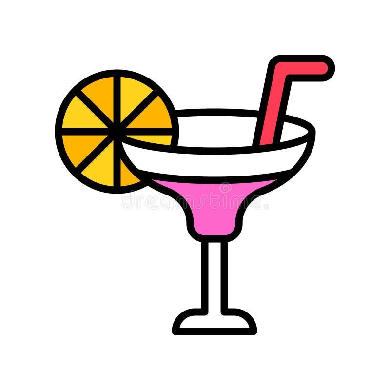 El verano bebe el vector, icono llenado relacionado del partido del verano ilustración del vector