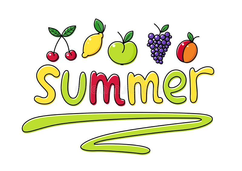 El verano da fruto ejemplo del vector de la fruta stock de ilustración