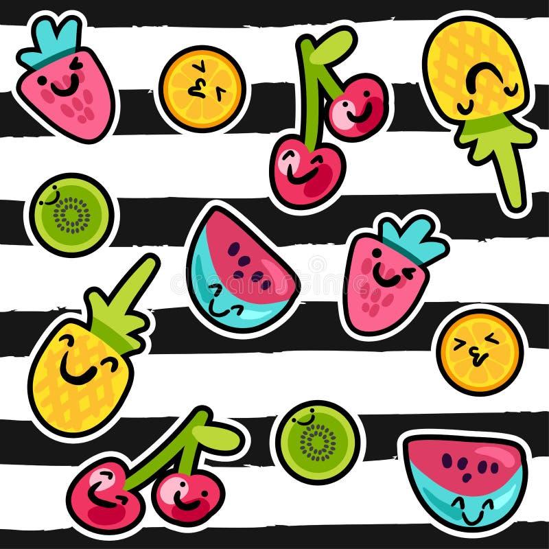 El verano da fruto los modelos ilustración del vector