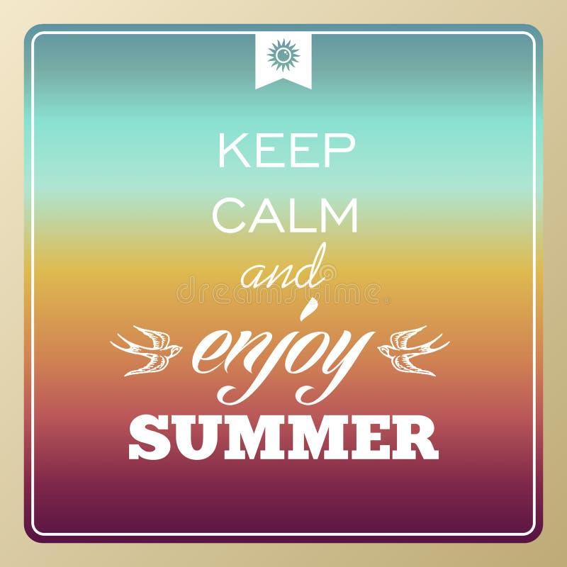 El verano retro vacations cartel ilustración del vector