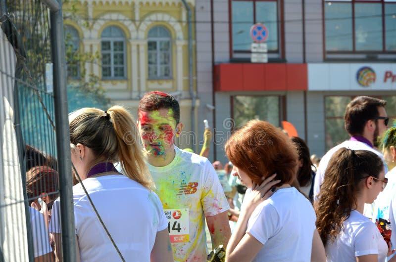 El verano, Ucrania, Kyiv, color corre 2017, muchacho, imagenes de archivo