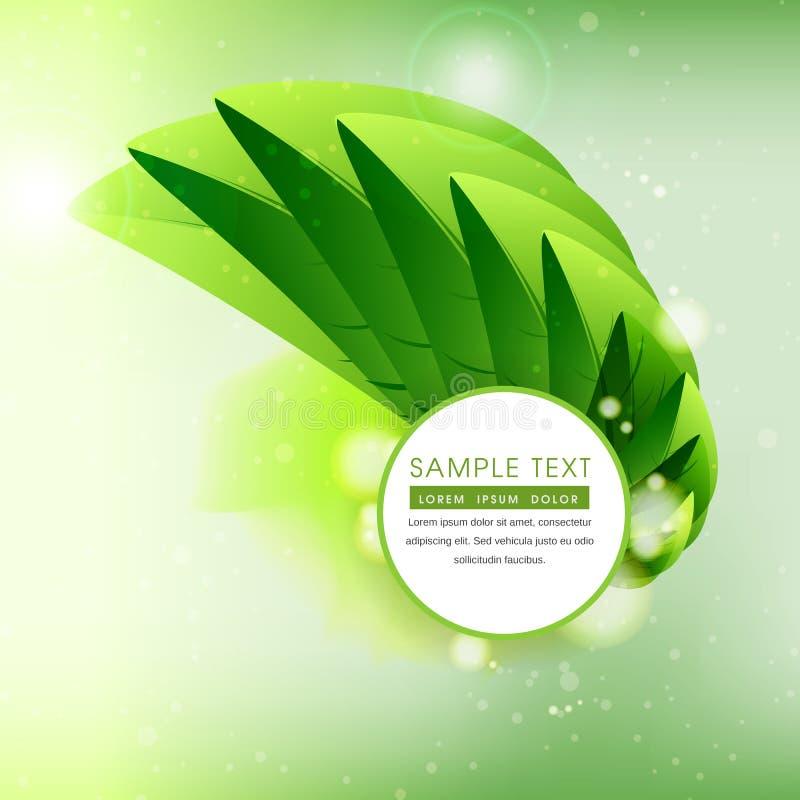 El verde abstracto deja el fondo soñador foto de archivo libre de regalías