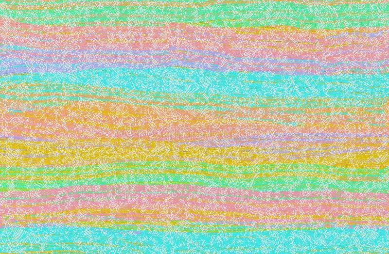 El verde azul, amarillo colorido y el diseño abstracto rosado wallpaper foto de archivo