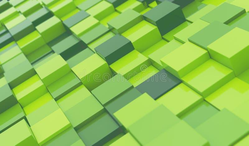 El verde bloquea el fondo abstracto ilustración del vector