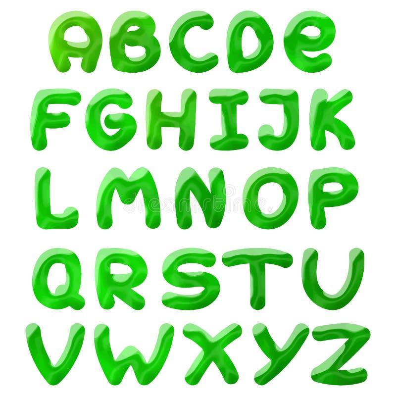 El verde borra alfabeto libre illustration