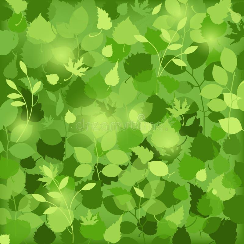 El verde deja el fondo libre illustration