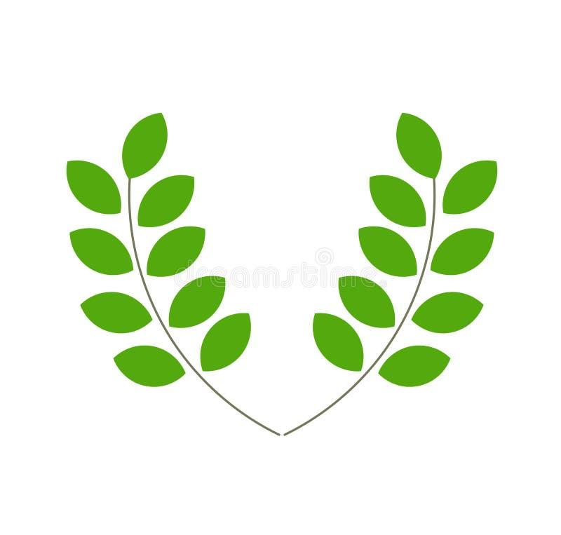 El verde deja vector ilustración del vector