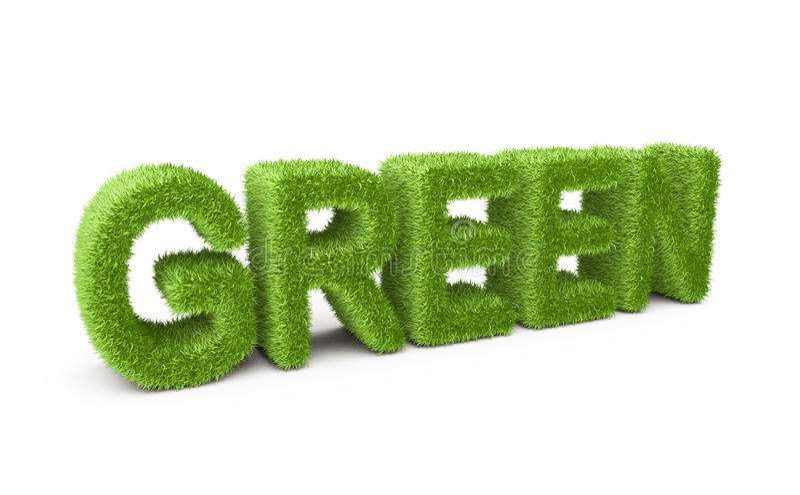 El verde del texto cubrió la hierba ilustración del vector
