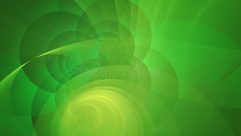 El verde esmeralda fresco circunda el fondo abstracto libre illustration