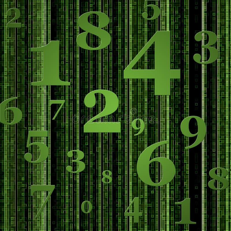 El verde numera el fondo stock de ilustración