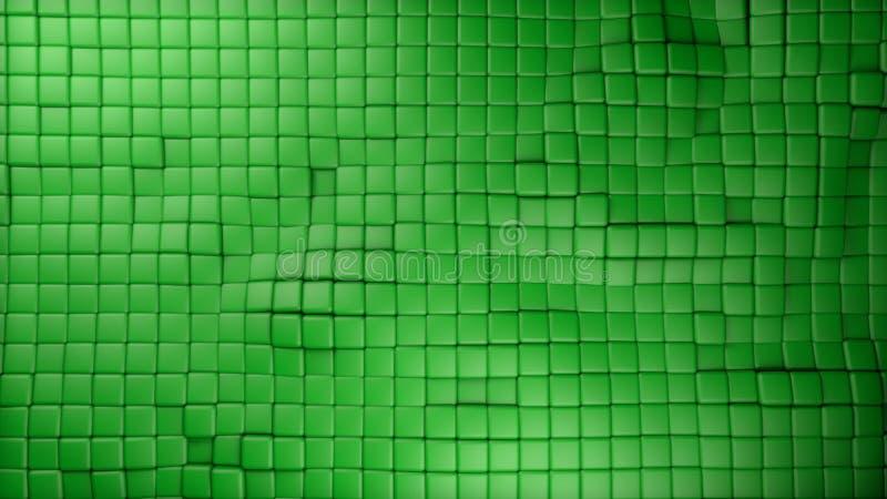 El verde plástico cubica el fondo libre illustration