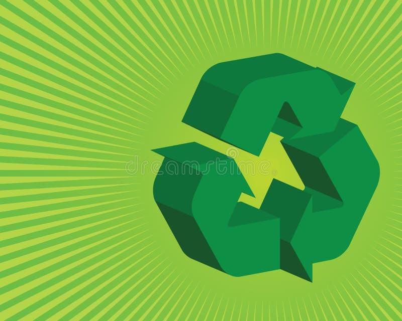 El verde recicla el fondo libre illustration