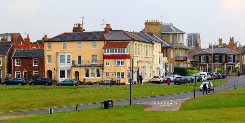 El verde, Southwold foto de archivo libre de regalías