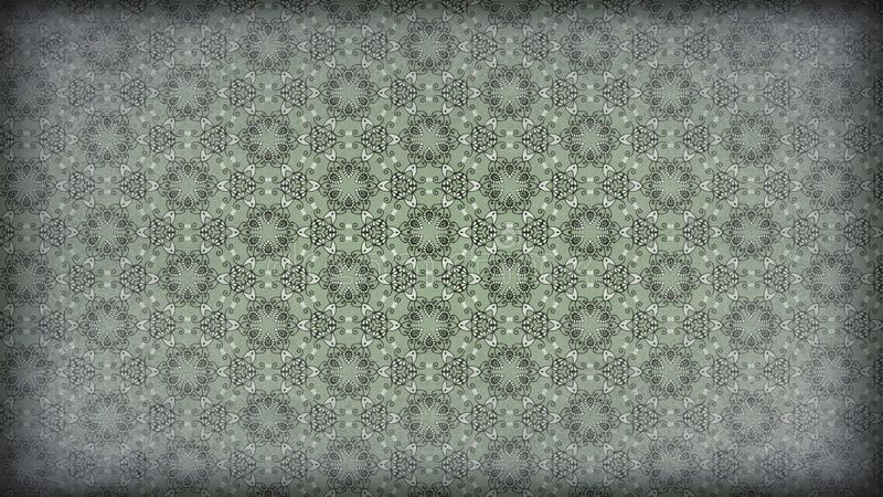 El verde y Grey Vintage Decorative Ornament Wallpaper modelan el ejemplo elegante hermoso ilustración del vector