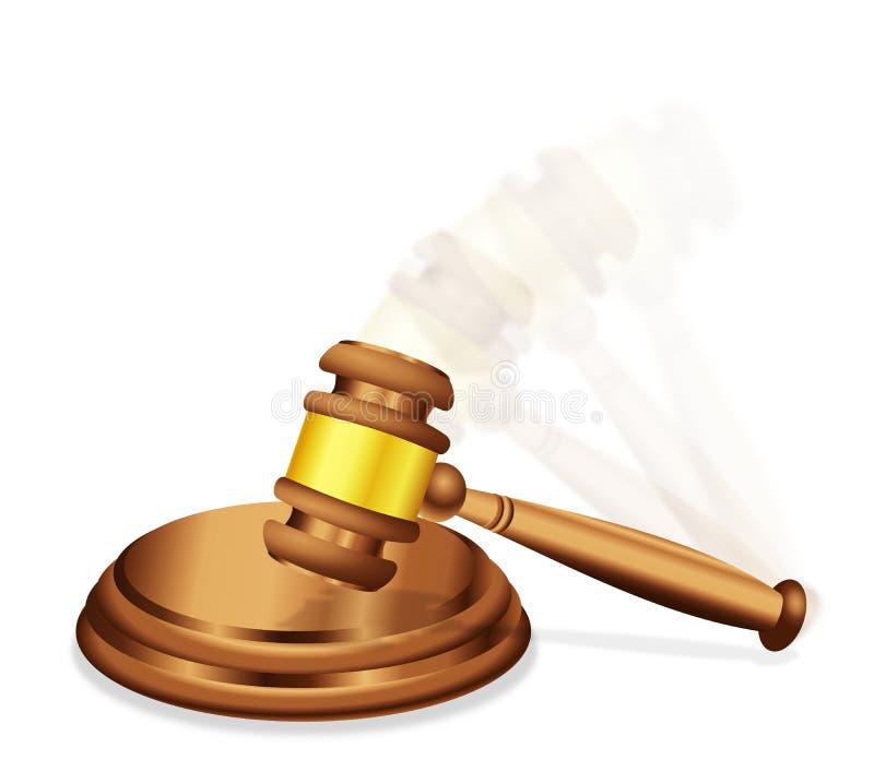 El veredicto o el juicio de la decisión final stock de ilustración
