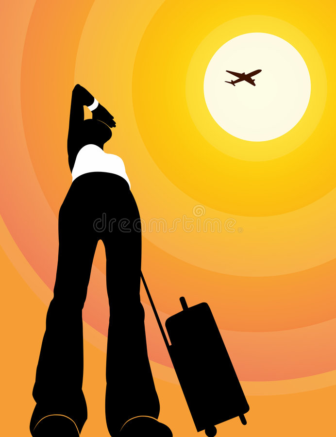 El viajar stock de ilustración