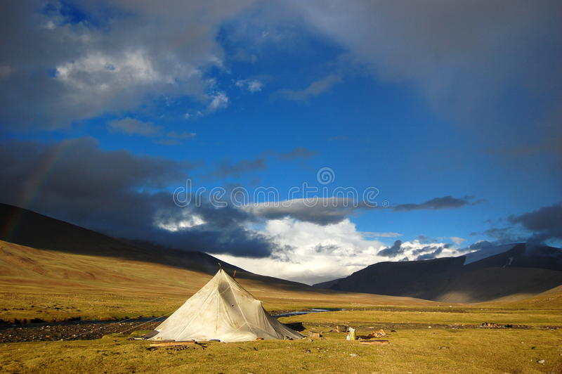 El viajar con un nómada fotografía de archivo