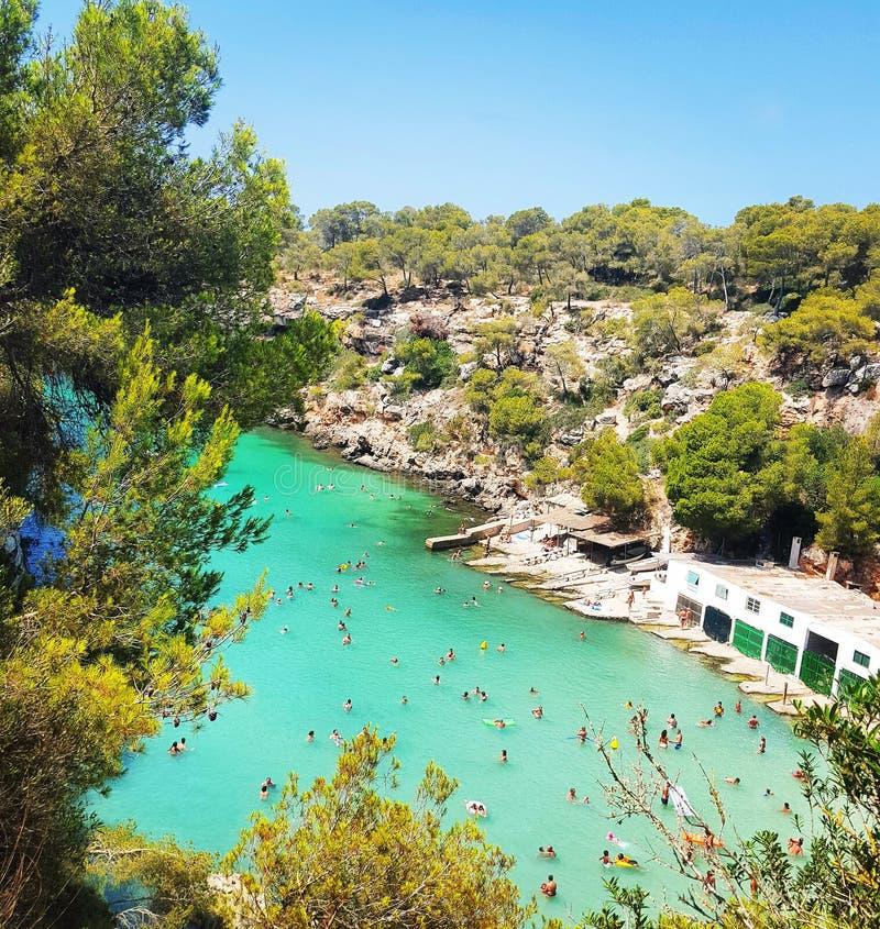 El viajar de Calapi Mallorca fotos de archivo