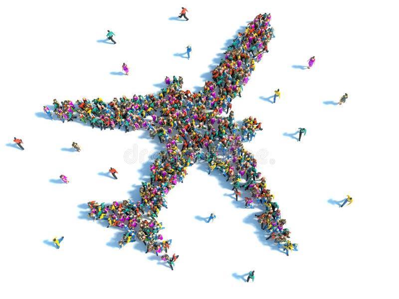 El viajar de la gente ilustración del vector