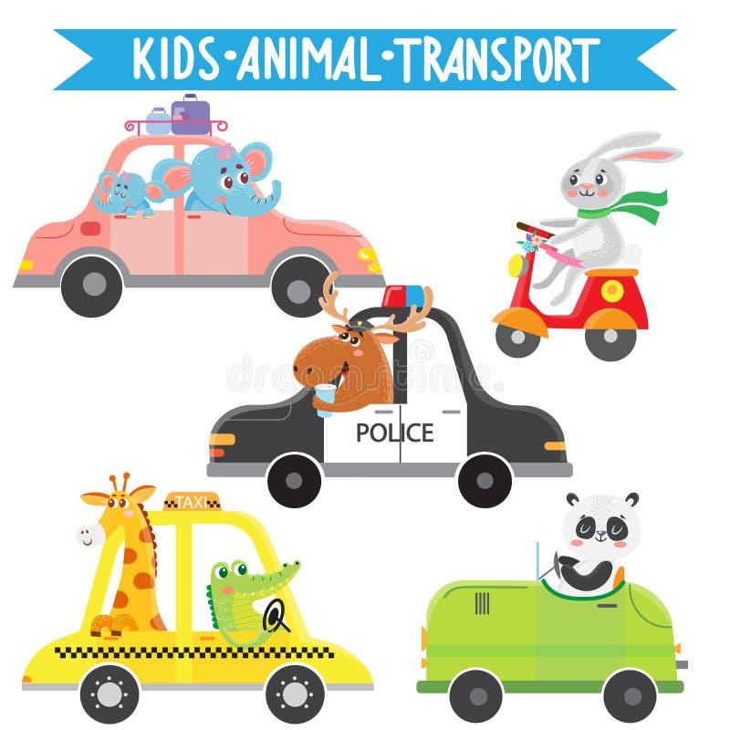 El viajar de los animales de la historieta stock de ilustración
