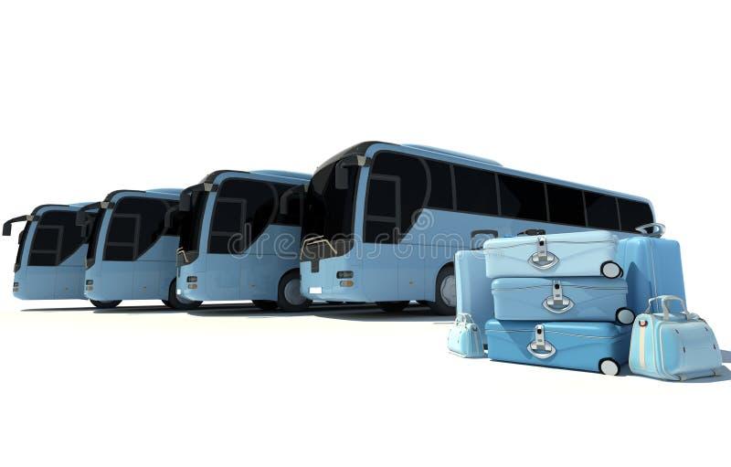 El viajar del autobús del coche ilustración del vector