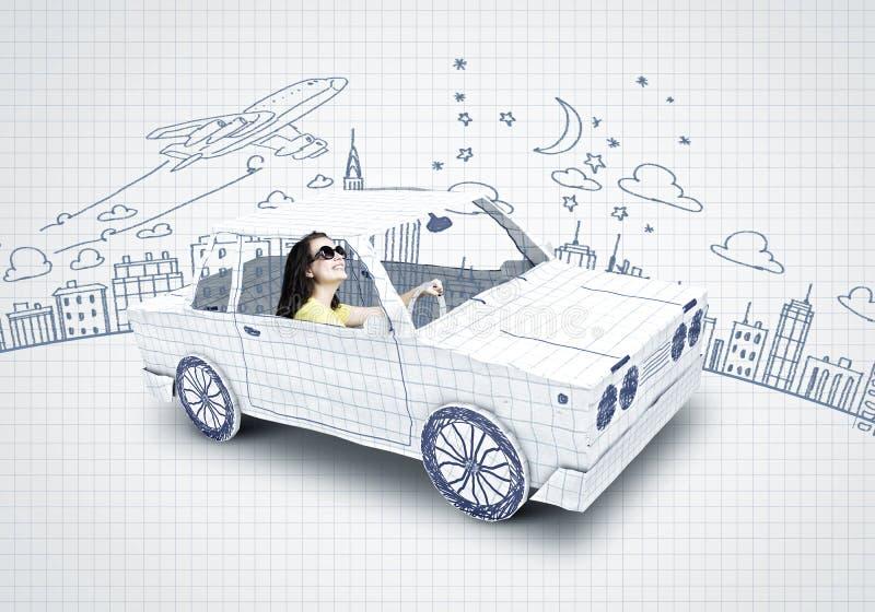 El viajar del coche ilustración del vector