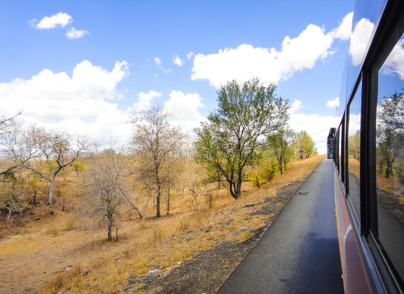 El viajar en Bus foto de archivo libre de regalías