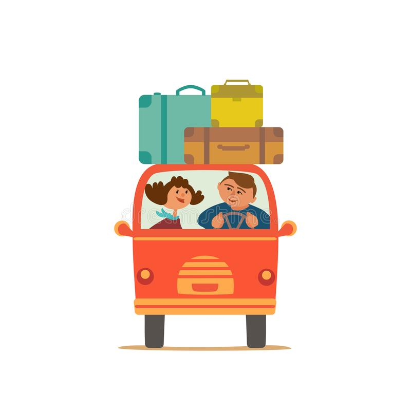 El viajar en coche libre illustration