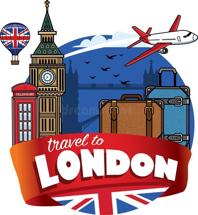 El viajar a la ciudad de Londres stock de ilustración