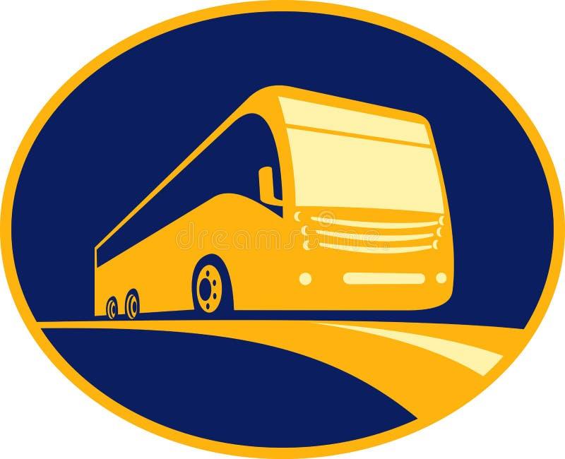 El viajar turístico del omnibus del coche stock de ilustración