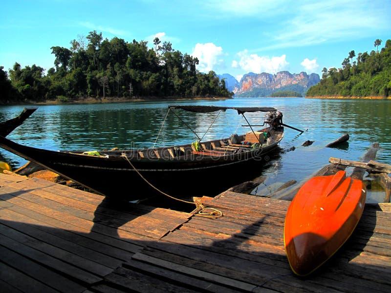 El viaje del lago fotografía de archivo libre de regalías
