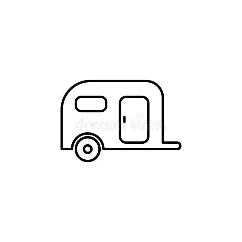 El viaje, no perturba el icono del esquema de la muestra Elemento del ejemplo del viaje Las muestras y el icono de los símbolos s stock de ilustración