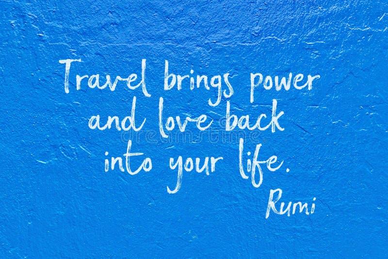 El viaje trae Rumi foto de archivo