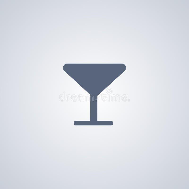 El vidrio, bebida, vector el mejor icono plano stock de ilustración