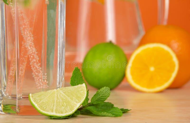 Download El Vidrio Con La Bebida, La Fruta Cítrica Y La Menta Verde Hojean Imagen de archivo - Imagen de bebida, objeto: 41916739