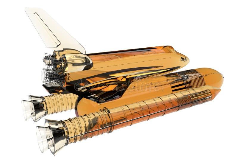 El vidrio ve el ejemplo del transbordador espacial del canal libre illustration