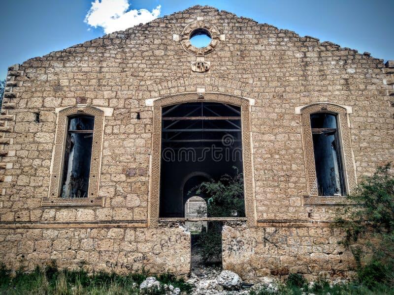 El viejo buiding abandonado de Palmillas imagenes de archivo
