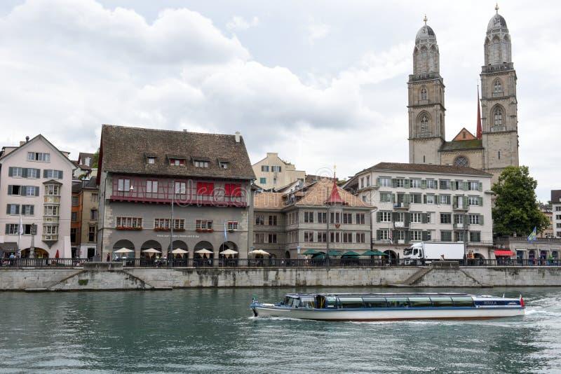 El viejo centro de ciudad de Zurich foto de archivo libre de regalías