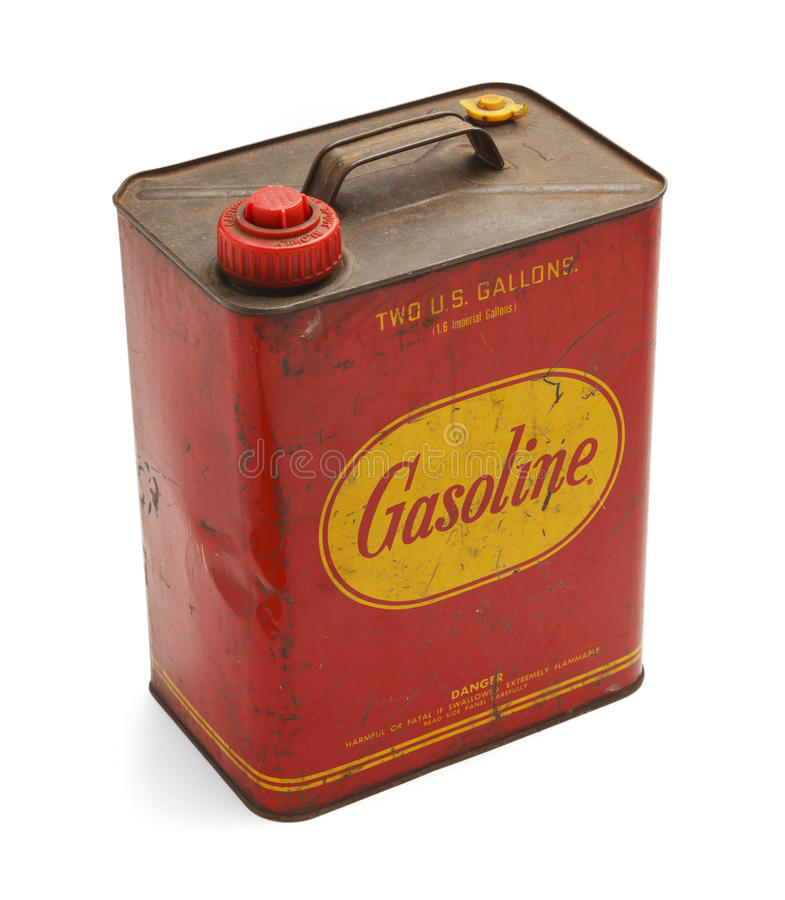 El viejo gas puede fotografía de archivo