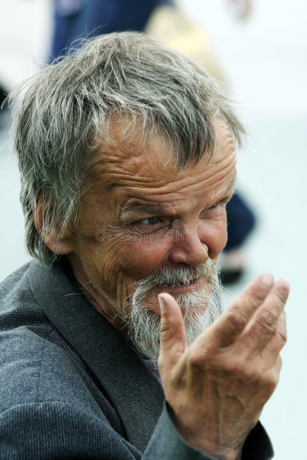 El viejo hombre alegre. foto de archivo