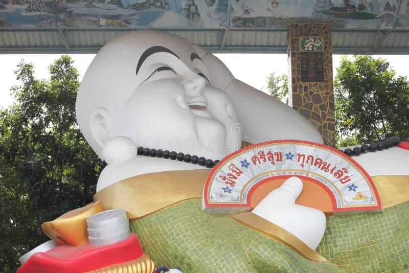 El viejo hombre de China sonrió estatua fotografía de archivo